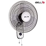 iBELL WF9816 Wall Fan With 3 Leaf,Low Noice Motor,480mm,Black and Ivory