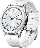 Huawei Watch GT Elegant Montre Connectée (GPS, boîtier 42mm) avec Bracelet Blanc