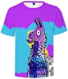 SERAPHY Unisex Game Battle Royale Fortnite Figuras Shirt Colorful Unicorn Camiseta 0041 XXS