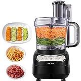 Küchenmaschine, AICOK Elektrische Reibe, 1.8L Food Processor, Fleisch Zerkleinerer, Gemüse Elektrisch und Umrühren, Küchenmaschine Zerkleinerer mit Drei Geschwindigkeit Optionen kann Hackfleisch, 500W