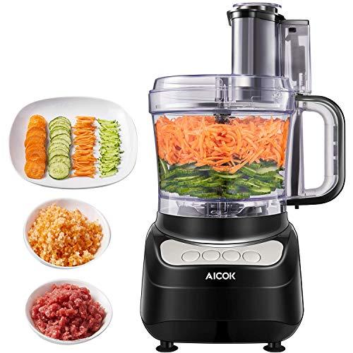 Robot da Cucina, AICOK 1.8 Litri Robot da Cucina Multifunzione, 3 Velocità Regolabili Tritatutto da...