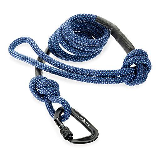 Embark Pets - Correa Sierra para perro con cuerda de escalada de montaña y mosquetón