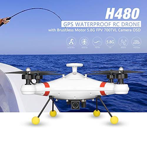 FairytaleMM Camera H480 Brushless 5.8G FPV 700TVL GPS Impermeabile UAV RC Drone con OSD