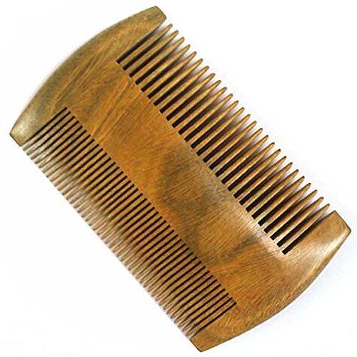 Mackur barba pettine di legno di legno chiaro Dimensioni pettine pettine per donne con tasca 1PCS
