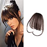 LaaVoo Clip on Air Bangs a Cheveux Humain Naturel Fausse Frange a Clip...