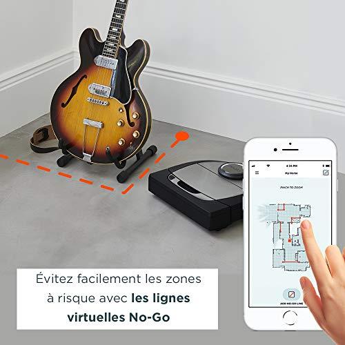 51UHSJ1g2bL [Bon Plan Neato] Neato Robotics D701 Connected - Compatible avec Alexa - Robot aspirateur avec station de charge, Wi-Fi & App