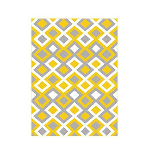 William 337 Tappeti Geometrici, Soggiorno Divano Tavolino Tavolino Moderno Lattice Moquette (Colore : B, Dimensioni : 120 * 160cm)