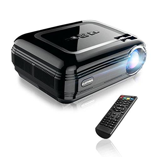 YKS Beamer, Full HD Projektor, 3200LM Beamer LCD+LED Portabel Tragbar HDMI VGA USB für Heimkino Laptop TV Spiel Video Home Entertainment