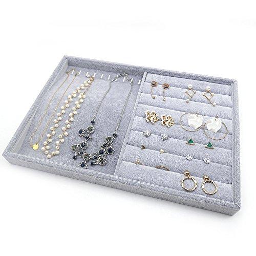 PuTwo Gioielli Organizzatore 2 Sezioni Lint cassetto Organizzatore display contenitore di regali di...