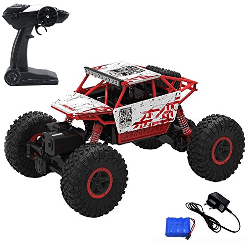 MousePotato 1:18 4WD Rally Car Rock Crawler Off Road Race Monster Truck (Red`)
