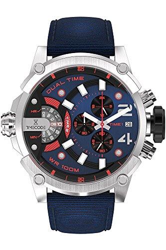 Timecode Herren Chronograph Quarz Uhr mit Stoff Armband TC-1002-23