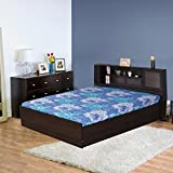HomeTown Bolton Engineered Wood Queen Size Bed in Wenge Colour