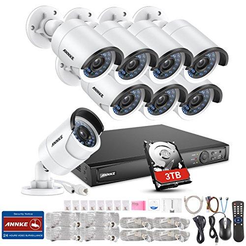 ANNKE Kit Videosorveglianza 1080P POE NVR 6MP 8 Canali 8 POE Telecamera 2 MP Email Allarme Manuale Italiano Playback 6CH Visione Notturna 100ft H.264 Motion Detection IP66 3TB HDD