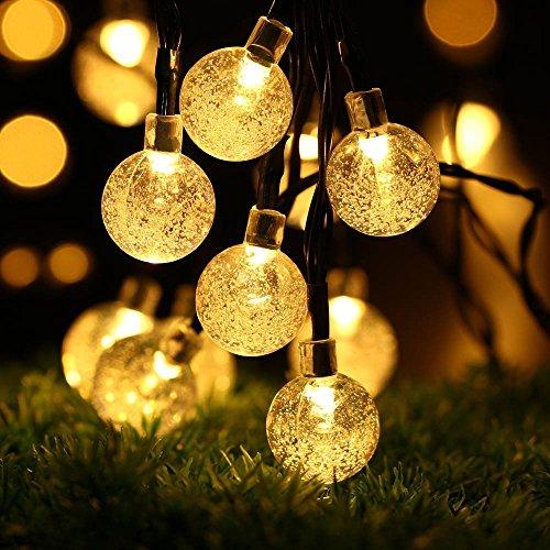 Eleganbello, Catena Luminosa, Striscia di Luci, 30 LED, 6,3 Metri, Forma Sferica, Luce Calda Bianca,...