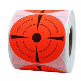 7,6cm pollici adesivi rotondi target Pasters adesivo shooting Targets–target Dots–fluorescente rosso e nero