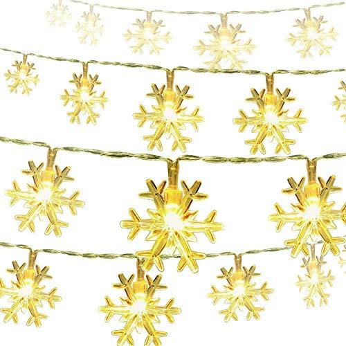 Catena Luminosa, Cascata led, Luci cascata, Strisce LED, 6M, Luci Stringa Bianco Caldo, per...