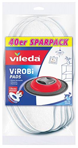 Vileda - Panni cattura-polvere di ricambio per robot Virobi, sottili 40 pezzi
