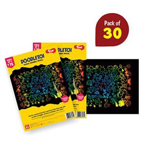 Doodletoi - Magical Colourful Scratch Art Drawing Papers 23  Doodletoi – Magical Colourful Scratch Art Drawing Papers 51Um0NYpcoL