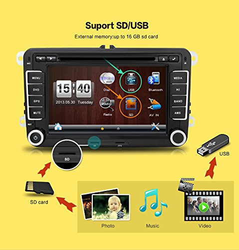 new 17 8 cm 2din dvd de voiture gps st r o de voiture. Black Bedroom Furniture Sets. Home Design Ideas