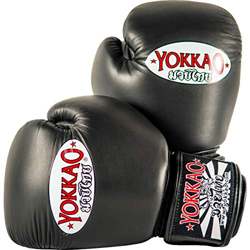 Yokkao Matrix nero Muay Thai boxe guanti, 10oz