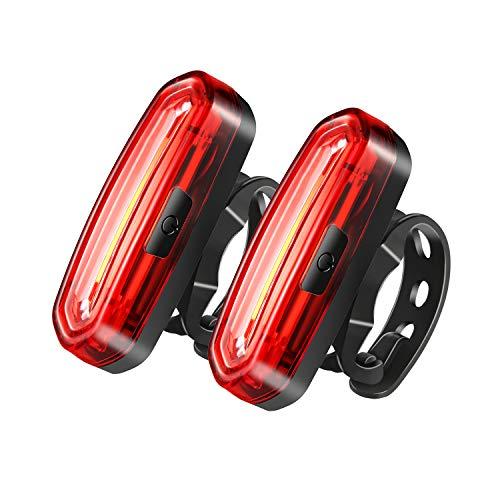 CELIFE 58 LED USB Ricaricabile Luci Posteriore per Bicicletta, 2 PCS IP67 Impermeabile 6 Potenti Regolazioni, 650AH Luminosi Fanalini Posteriori per Bici da Strada e Montagna, Usato Max Durata 15 Ore