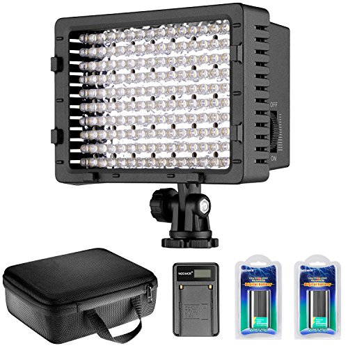 Neewer LED LUCE VIDEO CN-160 Dimmerabile a Potenza Ultra Alta: Luce LED CN-160, 2pz Batteria...