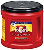 Folgers Classic Roast Medium Ground Coffee 865g American Import