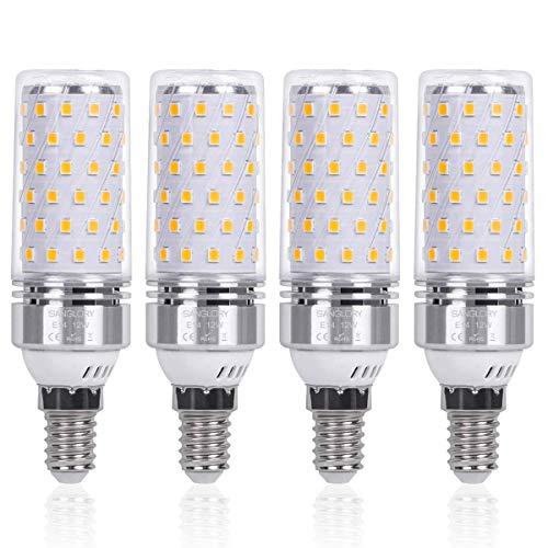 SanGlory 4 Pezzi Lampadina LED E14 12W Equivalenti a 100W 1350 Lumens Alta luminosità e Risparmio...