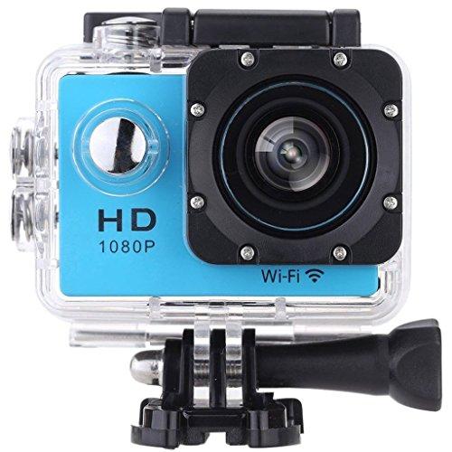 Vemont Action Kamera 2,0 Zoll Bildschirm, WIFI 12MP Full HD 1080P 30m/98 Fuß Wasserdichte Sports Kamera 170°Weitwinkel mit Zubehör Kits (Blau)