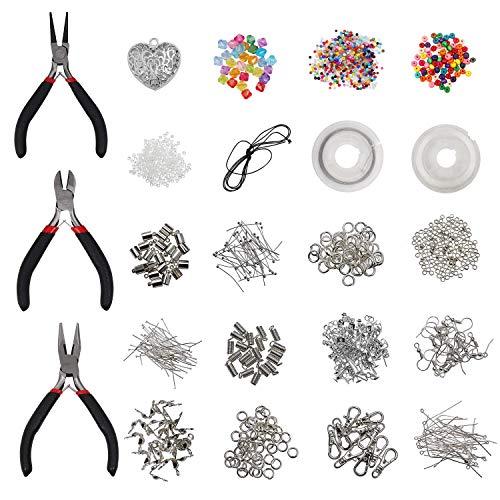 Jewelry Making Kit Resultados de la joyería Kit de inicio Joyas Rebordear Kit de herramientas de reparación y reparación - Grandes Suministros de Artesanía de Bricolaje