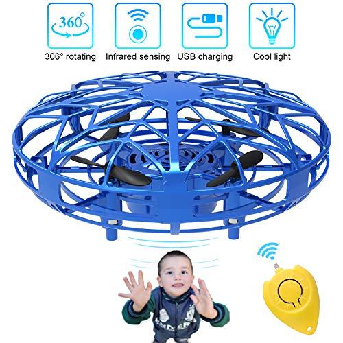 Mini Drones per Bambini e Adulti, Flying Ball Toy Controllato a Mano con Luce a LED e Rotazione di...