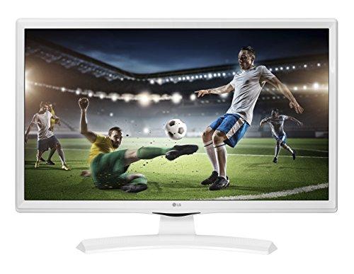 LG 24TK410VW - Monitor Piatto, 24' HD Opaco, Bianco