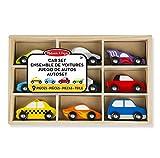 Melissa & Doug Wooden Cars Set-9 Pieces Car, (13178)
