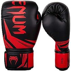 Venum Challenger 3.0 Guantes de Boxeo, Unisex Adulto, Negro/Rojo, 14oz