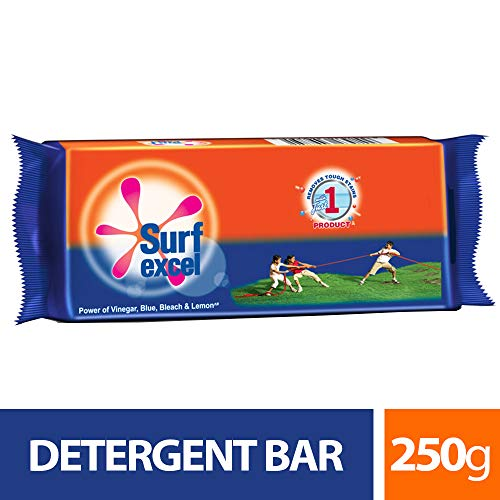 Surf Excel Detergent Bar - 250 g (Pack of 6)