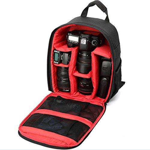 Camera zaino impermeabile Zaino di nylon a tracolla 33 * 12.5 * 26.5 multi funzione anti-shock per...