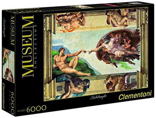 Clementoni Puzzle 36513 - 6000 pz - Michelangelo - La creazione dell'uomo - Museum Collection