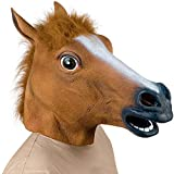 Supmaker Pferdemaske für Halloween Maske latex Tiermaske Pferdekopf Pferd Kostüm