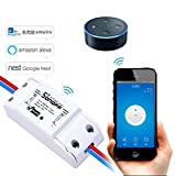 LEEHUR Sonoff Wireless Wifi App Controlled DIY Smart Switch Module Support Remote Control with ABS Shell Compatible with Alexa Google Nest Home Appliances