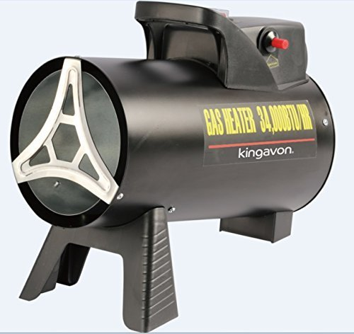 This gas-powered space heater as they are commonly referred to offers a large energy output that is able to heat areas up to 200m2so is perfect for larger garages and sheds. Additionally it comes with a regulator and a hosepipe so that it can be used right off the delivery box assuming you have a gas bottle handy. The 10kW model features a fan that helps disperse the heat fast ensuring that there are no cold spots in the room.  When they say you get what you pay for, this model embodies that statement to the fullest. This is about as small as space heaters come but they are perfect for warming up larger spaces quickly.
