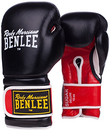 BENLEE Rocky Marciano Sugar Deluxe - Guantoni da Boxe, Unisex, 194022, Nero, 20 oz