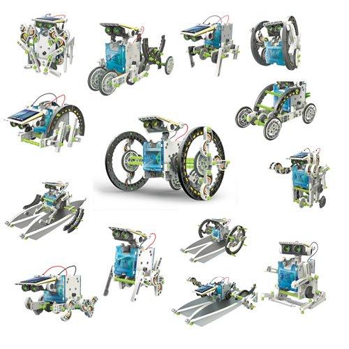 51VMCLuws6L - itsImagical 14X1 Eco-Robot - Kit para construir robots solares, unisex