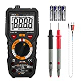 Multimètre, Testeur Electrique, Tacklife DM01M Avancé TRMS 6000 Points/Ampèremètre/Voltmètre/Ecran LCD/NCV/Mesure de Température/Capacimètre/Tension, Courant AC/DC/Résistance/Fréquence/VFC