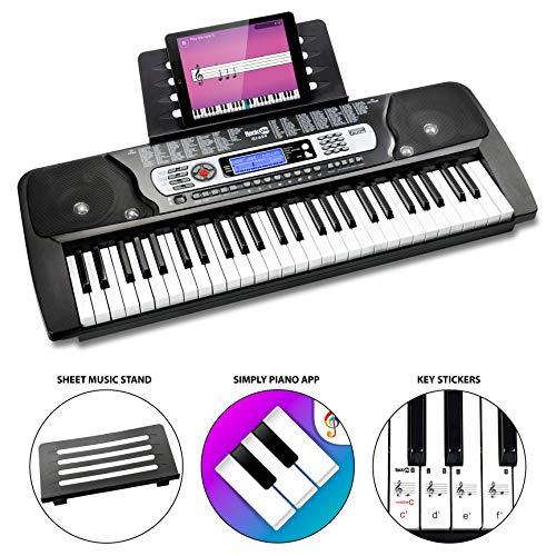 RockJam RJ654 Tastiera elettronica portatile con schermo LCD interattivo