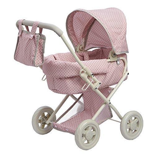 Olivia's Little World- Passeggino per Bambole bebč, Colore Rosa/Grigio, OL-00003