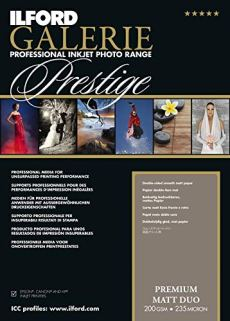 Ilford Galerie Prestige Premium Mate Duo 200gsm A3-297mm x 420mm 25Hojas