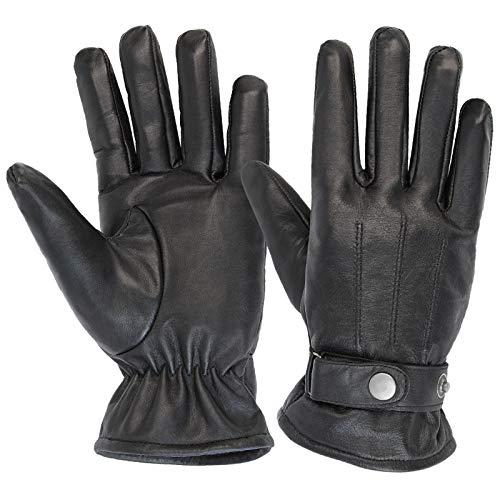 ALPIDEX Herren Lederhandschuhe Winterhandschuhe Leder Handschuh in verschiedenen Größen 1