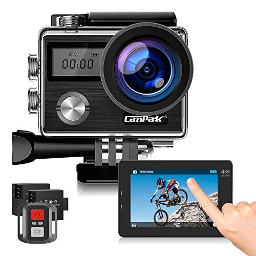 Campark Action Cam 4K HD 20MP WiFi LCD Touch Screen con Telecomando 40M Impermeabile Fotocamera...