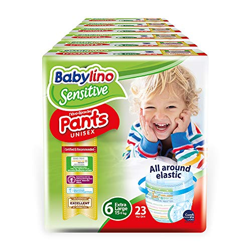 Babylino Sensitive Pants Extra Large, 138 Pannolini Mutandina Taglia 6 (15+Kg) - 6.3 kg