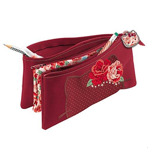 Giochi Preziosi Hello Kitty Passion Roses Astuccio Bustina con Tre Cerniere con Swarovski, 22 cm,...